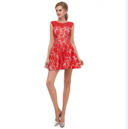 Canada 2018 robes de soirée sexy en dentelle rouge élégantes En Stock Robes de soirée courtes royal blue under 50 Real Photos Sweetheart mini Robe de soirée 12672 cheap elegant sexy red dresses Offre