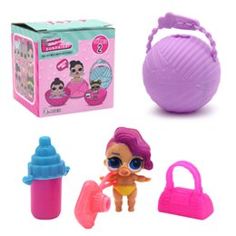 Wholesale Interactive Dolls - Mini Surprise Doll Series 2 LiL Sisters Action Figures 7.5CM Ball Surprise Dolls Dress Up Baby Spray Water Dolls Toys for Kids