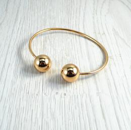 Wholesale Copper Castings - Wholesale- Simple  fashion accessories wholesale copper casting big geometric round metal punk rock ms bangle bracelet