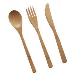 3pcs / set écologique japonais couverts couverts set de vaisselle en bambou set couteau vaisselle fourchette set avec pochette en tissu ? partir de fabricateur