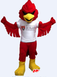 Wholesale Bird Costume Adults - Custom Red bird mascot costume Adult Size free shipping