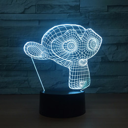 Wholesale Money Cup - Money 3D Optical Illusion Lamp Night Light DC 5V USB Powered AA Battery Wholesale Dropshipping Free Shippin
