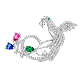 Wholesale Phoenix Clothes - Wholesale DIY Crystal CZ Rhinestone Phoenix Brooches Women Classic Fashion Bird Coats Pins Brooches Wedding Party Gift Clothes Accessories