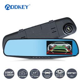 Examen des caméras en Ligne-Détecteur de vision nocturne de voiture Dvr caméra bleu examen miroir DVR enregistreur vidéo numérique auto caméscope Dash Cam FHD 1080p