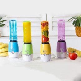 licuadora de hielo Rebajas Mini Batidora portátil de frutas Mezclador de jugo eléctrico Mezclador de batido de vegetales con taza de viaje