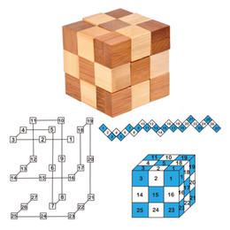 Argentina MINI Niños antiguos Aprendizaje educativo Juguetes de madera 3D IQ Rompecabezas para adultos rompecabezas de rebabas bloqueo y desbloqueo de juegos Suministro