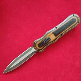 2019 tac force knife Banco - hecho D / E interruptor cuchillo D2 herramienta de acero G10 caza exterior cuchillos tácticos regalo equipo de camping