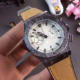 Wholesale Pin Meter - Top Luxury Brand Men's Watches High-ranking Leather strap Men Watch Stopwatch Small dial work Waterproof 30 meters Wristwatch Hombres reloj