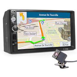 chino pantalla grande tv Rebajas coche dvd 2 din autoradio Radio del coche Reproductor multimedia Cámara de navegación GPS Bluetooth MP4 MP5 Audio estéreo Auto volante electrónico