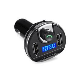 2019 adattatore radio dell'automobile del telefono bluetooth Adattatore Bluetooth per auto con 2 caricabatterie USB Vivavoce FM Radio FM / FM per il telefono cellulare M8617 sconti adattatore radio dell'automobile del telefono bluetooth