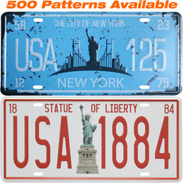 Wholesale Liberty Homes - [ Statue Of Liberty ] Car License Plate USA Vintage Home Decor Tin Sign Shabby Chic Metal Sign Plaque Metal Decorative Vintage