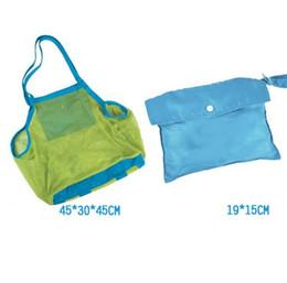 Ferramentas de areia do bebê on-line-45 * 30 * 45 cm sacos de armazenamento de malha de praia do bebê Areia Do Bebê Da Praia Shell bolsa de praia portátil crianças areia ferramenta de armazenamento de sacos de areia