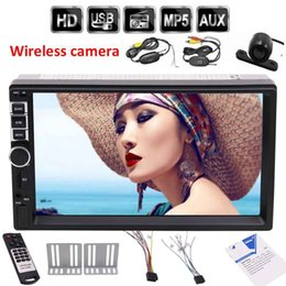Wholesale light speakers car - 7'' 2Din Bluetooth MP5 Player HD Touch Screen double din Car MP5 Player Audio Video 3 color button light Screen headunit in das