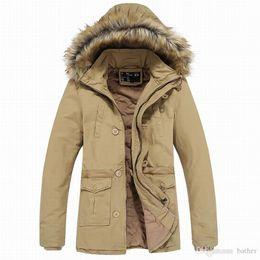 All ingrosso- Inverno lungo Trench Coat Giacca a vento da uomo in cotone  2016 impermeabile Jaqueta Masculina Zip anteriore moda trench giacche uomo  108 a ... 9c91542951d