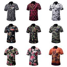 Wholesale polo shirt designer - Summer Short Men Shirt Camouflage Designer 3D Printing Men Polo Shirts Male Funny Beach Style Top Tee Fashion T-shirt