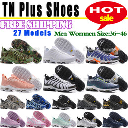 Wholesale shoes 27 - Cheap TN Running Shoes Hot Sale Cushion 27 Colors Shoes Men Women Breathable Light High Quality Casual Shoes Free Shipping Size 5.5-12