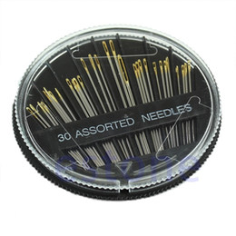 Wholesale good embroidery machine - 30PCS Assorted Hand Sewing Needles Embroidery Mending Craft Quilt Sew Case