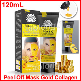 Wholesale clean face pores - Peel Off Mask gold collagen Deep Cleansing Pore Cleaner Golden mask 120ml Purifying Blackhead Remover Facial Mask Face Care Free DHL