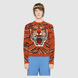 Sueter gatos online-Diseñador de marca de lujo para hombre ropa sudaderas con capucha suéter bordado serpiente gato flores carta tigre sudadera animal sudadera con capucha Jumpers 9h6