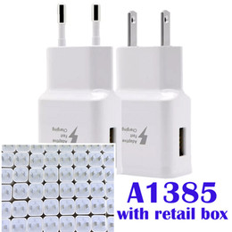 Wholesale Quality Walls - Original Quality A1385 A1400 with LOGO US Plug USB AC Power Wall Charger Travel Adapter for iphone 5 6 6S 7 8 PLUS X With Original Box