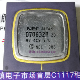 Wholesale Ceramic Camera - D70632R-20 . V70 , UPD70632R . Microprocessor   Gold old cpu collection   White steel surface CPGA ceramic package , SIER chips