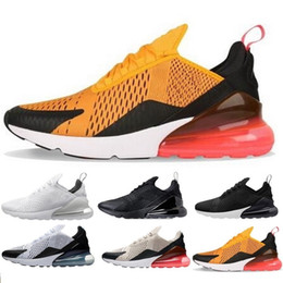 Wholesale mens soles - 2018 270 Wholesale high quality Mens white black Triple Black AH8050 Trainer Sports Running Shoes Womens sole Sneakers AH8050-100