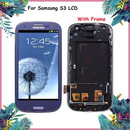 Wholesale galaxy s3 screen display - TESTED Original For SAMSUNG Galaxy S3 Display i9300 Touch Screen Digitizer Replacement For SAMSUNG Galaxy S3 LCD Screen