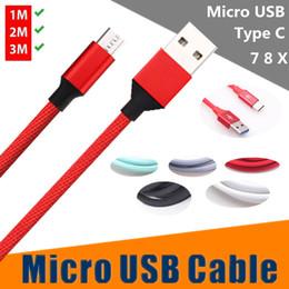 2019 cable usb m Tipo de carga rápida c / micro cable usb 1 m 2 m 3 m aleación de aluminio cables de tela trenzada para samsung s7 borde s8 s9 huawei htc teléfono android rebajas cable usb m