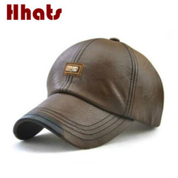 365966d1d8e which in shower fashion high quality fall winter men faux leather hat cap  casual women PU snapback hat blank men s baseball cap