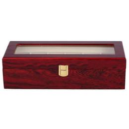 2019 schmuck-display-boxen holz 6 Holz Uhr Vitrine Box Glas Top Schmuck Speicherorganisator Geschenk Männer günstig schmuck-display-boxen holz