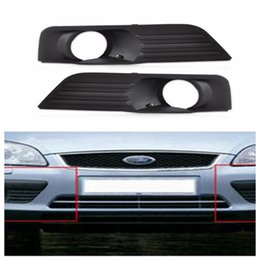 Wholesale auto bumper covers - Fog Lamp Grille Front Lower Side Bumper Fog Light Cover for Ford Focus 2005-2008 Black Auto Side Hole Grills DDA306