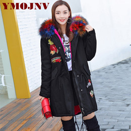 Wholesale Ladies Velvet Winter Jacket - New 2017 Winter Coats Women Jackets Large Faux Fur Collar Thick Plus Velvet Ladies Down Parka ArmyGreen Hooded Jacket For Women