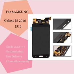 2019 accessori per telefoni cellulari Display LCD di alta qualità 100% testato touch screen di lavoro per Samsung Galaxy J5 2016 J510 Lcd display TFT luminosità regolabile