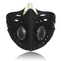 Masques faciaux au charbon actif en Ligne-Masque anti-poussière Endurance anti-poussière au charbon actif anti-poussière pour Cardio Workout Running Cycling Fitness MMA