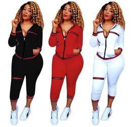 Wholesale women sweat suit tracksuit - Women Tracksuits Casual Supremitied Full 2 Piece Set women Hoodies Top + Pants Sweat Suits Women Two Piece Set