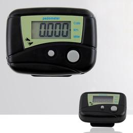 Compteurs de calories en Ligne-Pratique podomètre portable pratique de podomètre de compteur de calorie d'affichage numérique