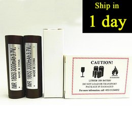 Wholesale Electonic Cigarettes - HOT 18650 HG2 3000mAh Capacity Max 35A High Drain Batteries Rechargable Lithium Battery HG2 For Electonic Cigarette 100W Fedex