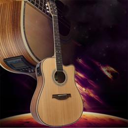 Wholesale Musical Folk Instruments - 41'' Wooden Folk Guitarra 21 Fret Acoustic Electric Bass Guitar 6 Strings Concert Ukulele for Musical Stringed Instrument Lover