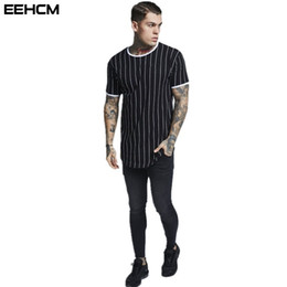 f5bae4079f8 2018 new cotton t-shirt short sleeve round neck men s striped t-shirt summer  bodybuilding fitness clothing casual tshirt men s