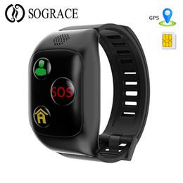 F08 Akıllı Bilezik GPS LBS Uzun Bekleme Kalp Hızı Izle Ile çağrı SOS Cihazı Tracker Konumu Akıllı Bant Hediye Çocuk Yaşlı için cheap gps watches for elderly nereden gps yaşlılar için saatler tedarikçiler