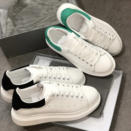 4fddbff13752 2018 Luxury Designer shoes White sneaker Platform Shoes genuine leather  trainers Comfort Pretty Girl wholesale style casual shoes men