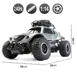 Voiture bigfoot rc en Ligne-1:14 2.4G 4WD 4Channels RC Voiture RC Beetle Rock Crawlers Voiture Double Moteurs Drive Bigfoot Télécommande Modèle Hors Route