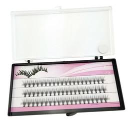Wholesale individual lashes set - Fashion 60pcs Set Professional Makeup Individual Cluster Eye Lashes Grafting Fake False Eyelashes 477N Free Shipping