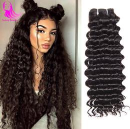 Queen Indian Deep Wave Bundles Grade 9A Non Transformés Vierges Indiennes Remy Cheveux 3 Faisceaux De Profonde Bouclés Vierges Cheveux Humains Weave Et Ondulés ? partir de fabricateur