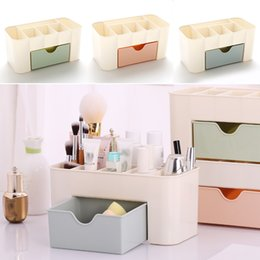 Wholesale Function Office - New Multi-function Storage Boxes Drawer-type Space Saving Plastic Cosmetics Storage Box Home Office Desktop Storage Bin WX9-258