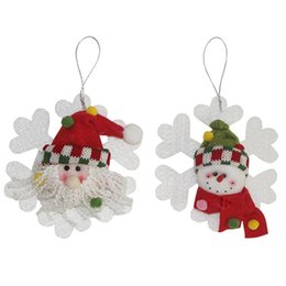Wholesale Cute Figurines Wholesale - Cute Handmade Christmas Tree Decorations Charms Rope Pendants Dolls Birthday Festival Funny Gift Home Window Party Drop Ornament