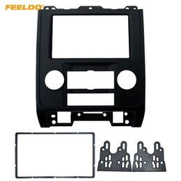 2019 ford dash kit FEELDO 2DIN Car Rádio Estéreo Quadro Fascia Para Ford Escape Mazda Tributo Painel de Interface Estéreo Traço Guarnição Kit de Instalação # 5011 ford dash kit barato