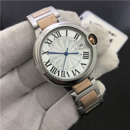 Wholesale Watch Couple Rose Gold - Women Watches Men Luxury Brand Quartz Business Fashion Casual Watch Full Steel Date Lady Lover Couple 30m Waterproof Wristwatches Rose Gold