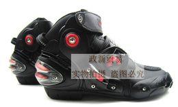2019 moto botas moto Brand New Motorcycle Boots Pro Biker VELOCIDAD Moto Racing Motocross Zapatos de moto Protector Gear Botas de moto Color rojo moto botas moto baratos