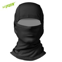 Материалы для масок онлайн-BATFOX Balaclava Ветрозащитная полумаска для лица Полиэстер Материал шеи Гетра для сноуборда CS Защитная экипировка для велоспорта